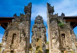North Bali Pura Beji Lovina, one of North Bali's oldest temples and dedicated to the goddess Dewi Sri